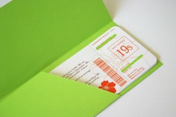 DIY: Boarding Pass Invitation / Save The Date - Aylee Bits