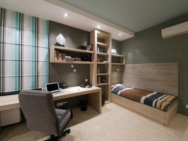 Modern Boys Bedroom Set With Desk Teenage Room Home Office