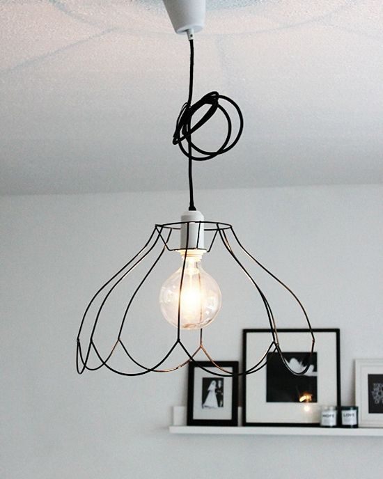 Wire frame pendant | At Home in Love