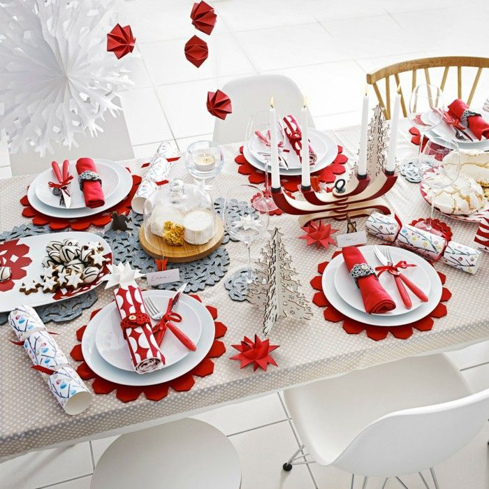 Christmas Table Settings Extraordinary 813 Best Christmas Table Decorations Images On Pinterest . Design Decoration