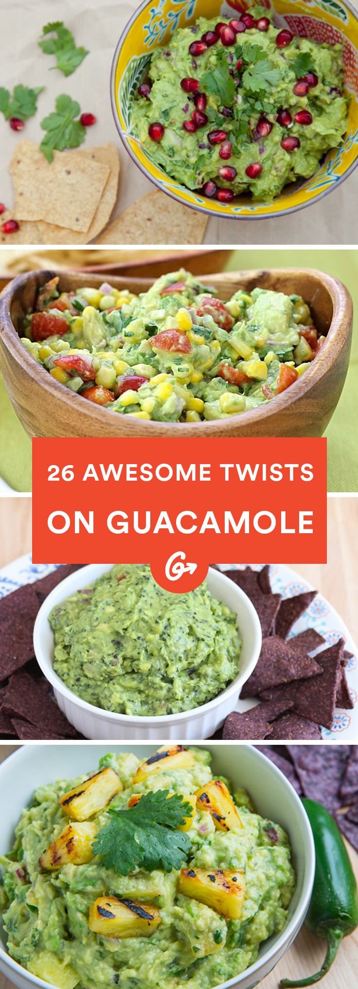 It hard to imagine making guacamole even more delicious. #guacamole #recipes http://greatist.com/health/creative-healthy-guacamole-recipes