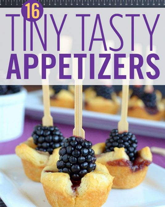 Make these tiny appetizers for your party this weekend! Your friends will think you're a master chef.