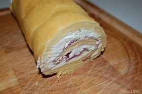 Rotolo di pan di spagna salato, scopri la ricetta: http://www.misya.info/2012/01/13/rotolo-di-pan-di-spagna-salato.htm