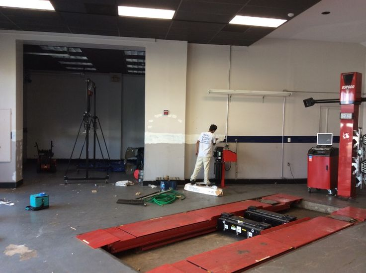 Summit, NJ Volvo Dealership Interior Painting Project by Monk's Home Improvements