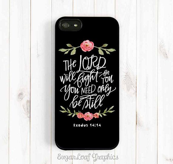 Bible Verse Quote iPhone Case The Lord will by SugarloafGraphics