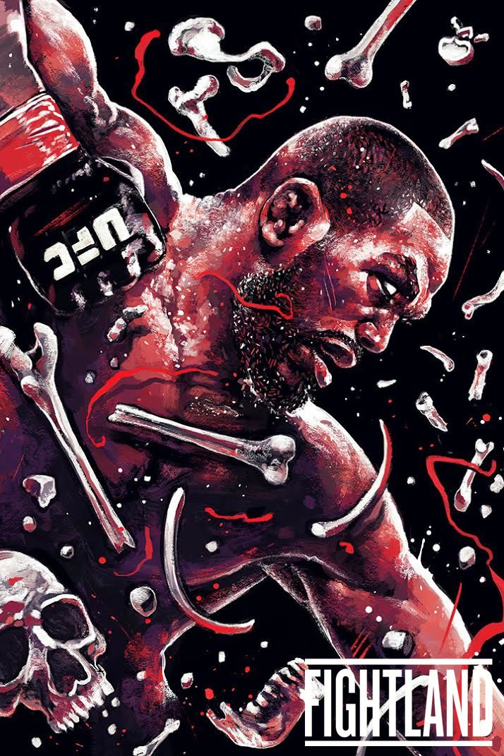 "Barbarian themed artwork of Jon ""Bones"" Jones : if you love #MMA, you'll love the #UFC & #MixedMartialArts inspired fashion at CageCult: http://cagecult.com/fitness"