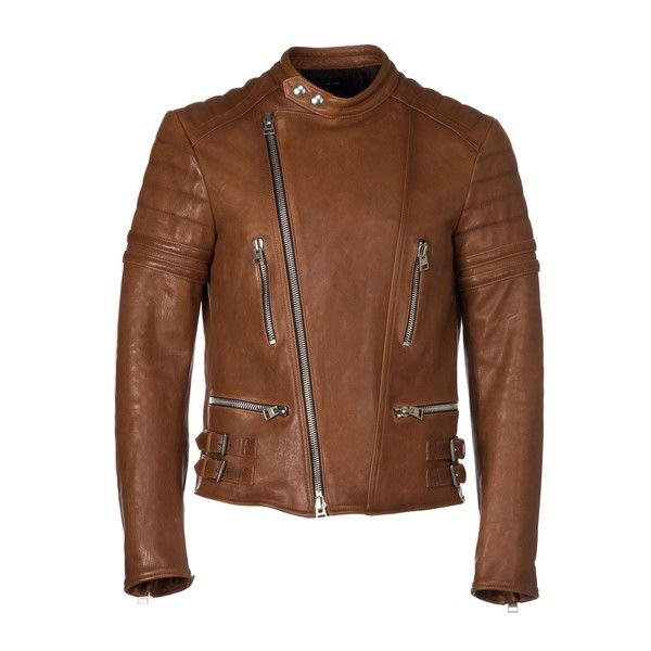 Tom Ford Coats & Jackets ($4,385) ❤ liked on Polyvore featuring men's fashion, men's clothing, men's outerwear, men's jackets, tan, mens biker jacket, mens tan leather jacket, mens leather jackets, mens leather biker jacket and mens zip up jackets
