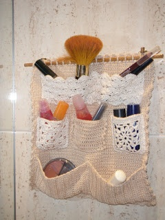 accesorio para el baño en crochet.