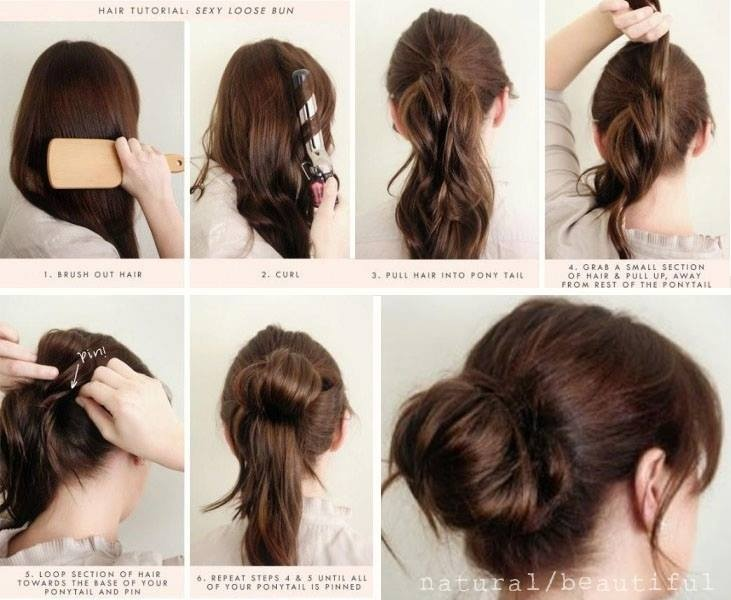 how to put medium length hair in a messy bun