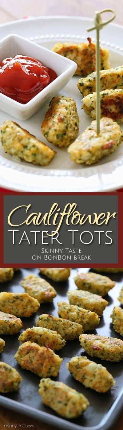 These kid-friendly cauliflower tots are so good, they won't realize they are eating cauliflower. They are great as a side dish and are easy to make.