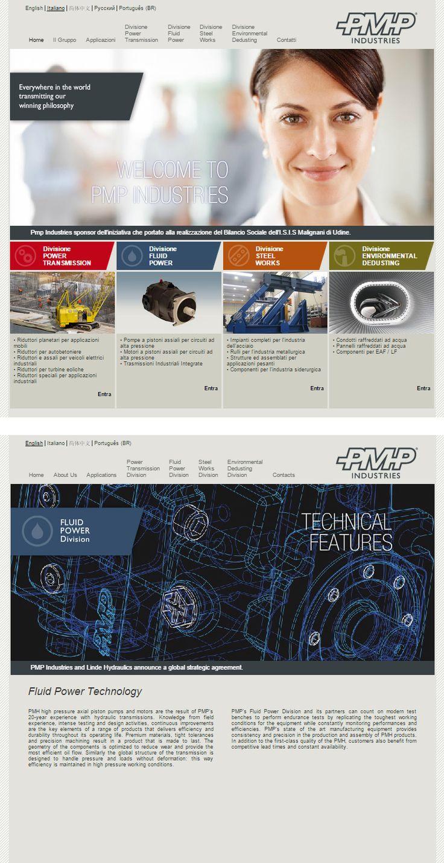 #Sitointernet realizzato nel 2011 per #PMPindustries industria internazionale di #trasmissionimeccaniche www.pmp-industries.com