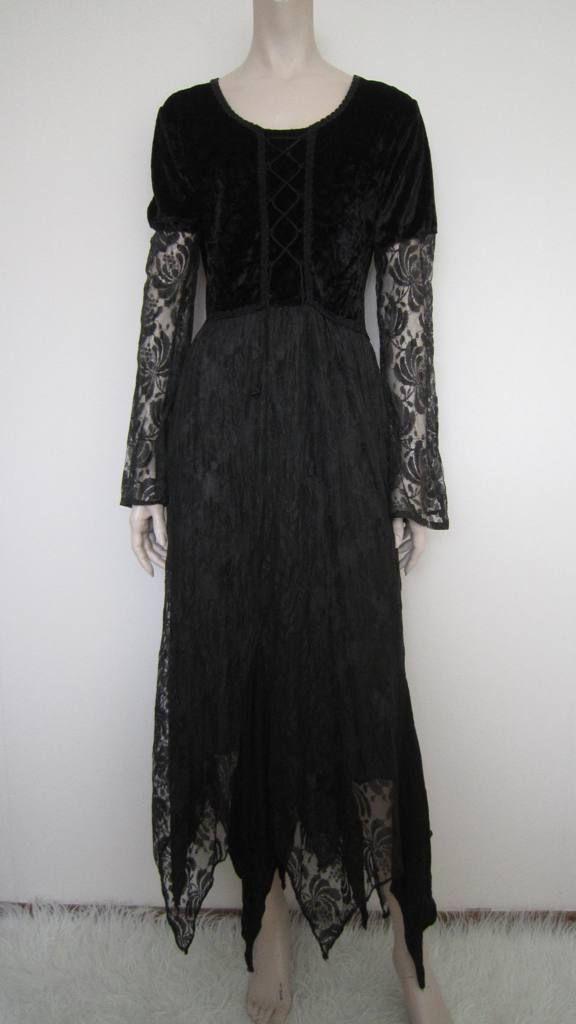 maxi jurk met veel kant - mt 38