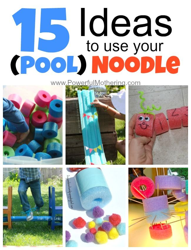 15 ideas to use your pool noodles