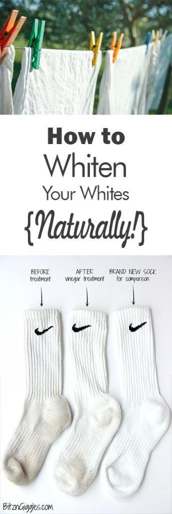 Whiten Your Whites, How to Whiten Your Whites, Easy Ways to Whiten Your Whites, Naturally Whiten Your Clothes, How to Naturally Whiten Clothes, Easy Ways to Whiten Your Clothing, Popular Pin, Laundry, Laundry Tips, Easy Laundry Hacks, Laundry 101
