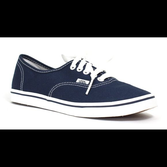 Navy vans Classic navy vans, good condition, lots of life left in them. Make an offer! MENS 7 WOMENS 8.5 Vans Shoes Sneakers