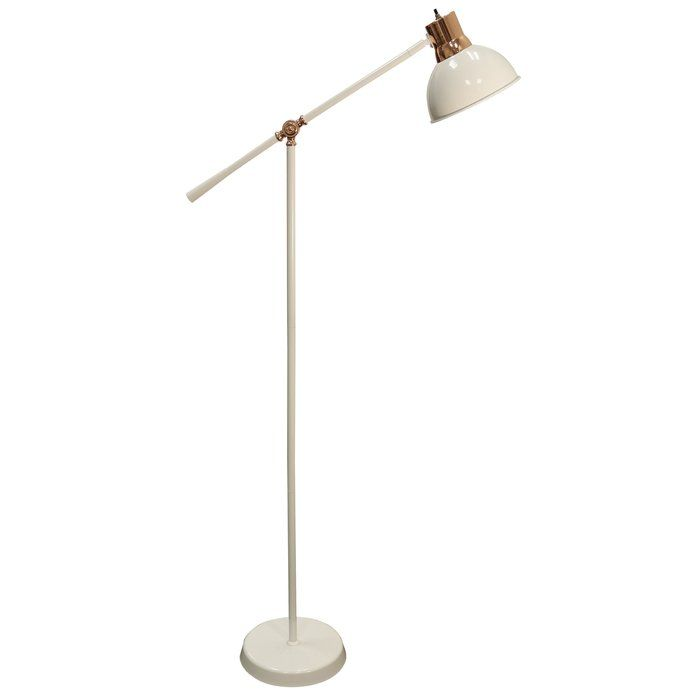 Gettys Metal 58 Task Floor Lamp White Floor Lamp Task Floor Lamp Adjustable Floor Lamp