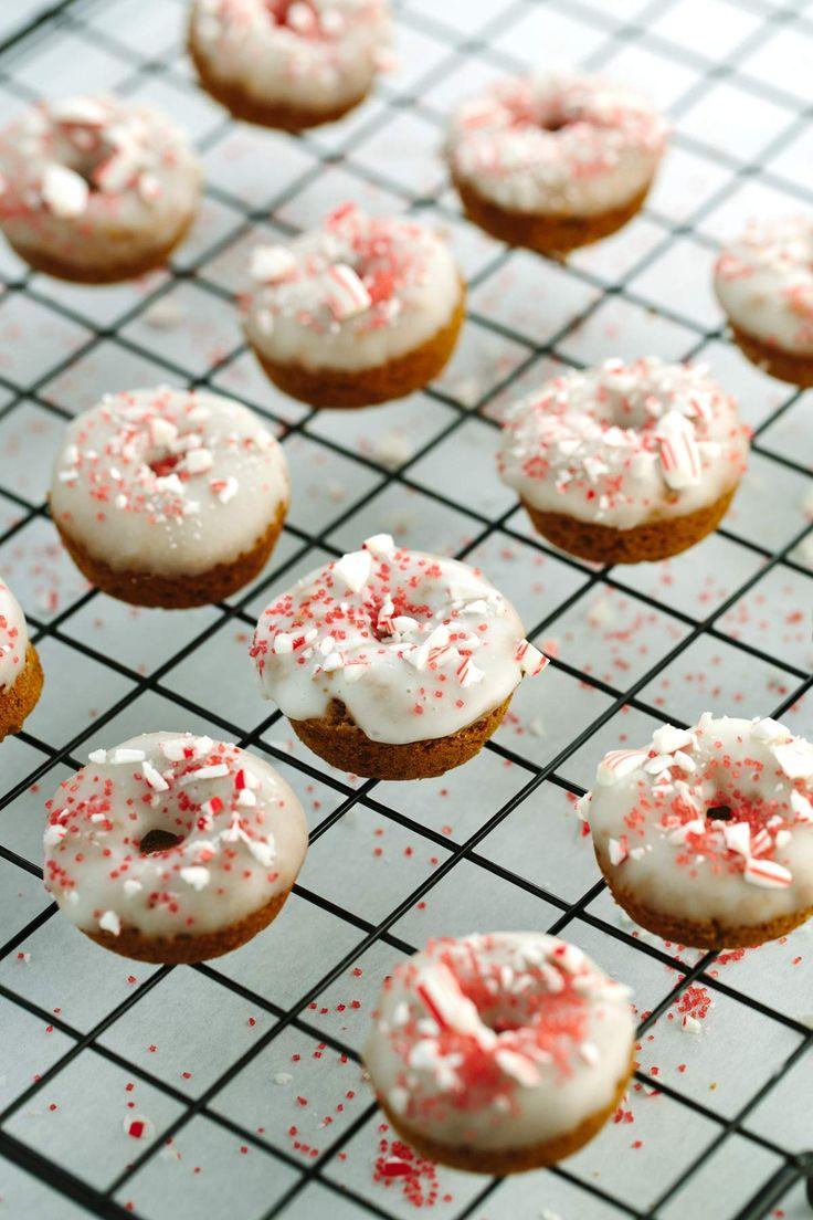 Mini Peppermint Gingerbread Donuts   Jessica Gavin