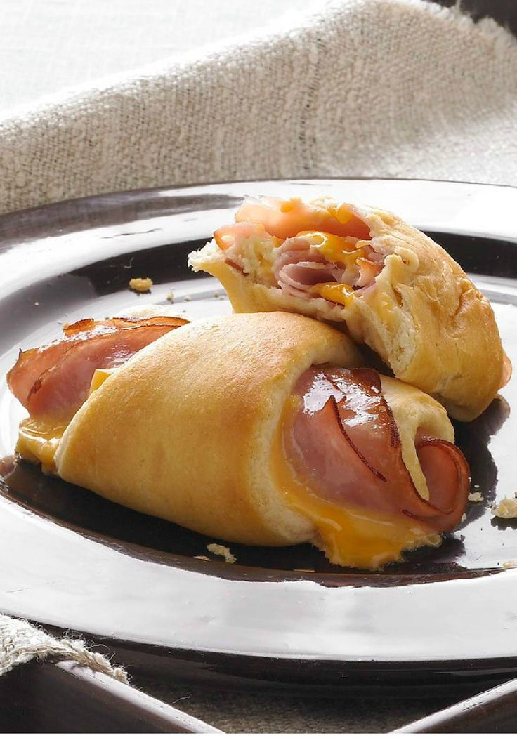 Hot Ham and Cheese Roll-Ups – You'll need just three ingredients to make these easy, cheesy, family-pleasy roll-ups. Soft, warm and flavorful, they're simple to make and simply delicious. If you're looking for a quick and easy back-to-school dish, we suggest serving these with soup and a side salad.