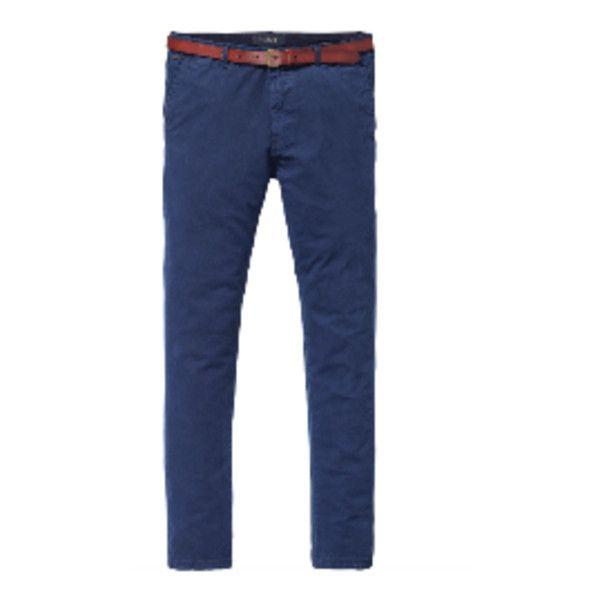 Navy Stuart Chino Trouser ($125) ❤ liked on Polyvore featuring men's fashion, men's clothing, men's pants, men's casual pants, mens zip off pants, mens zipper pants, mens slim fit pants, mens chinos pants and mens navy blue pants