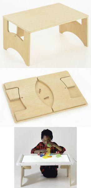 folding play table