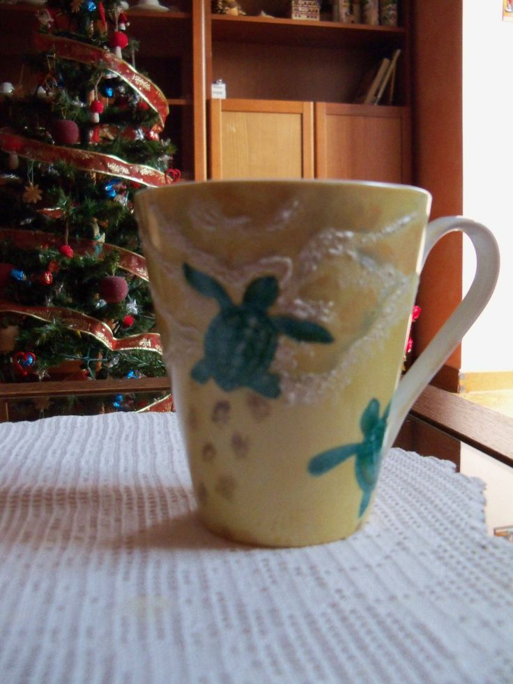 Tazza con tartarughe - Mug with turtles