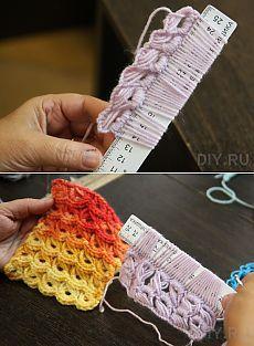 Мастер-класс: перуанское вязание на линейке. Строительный портал DIY.RU