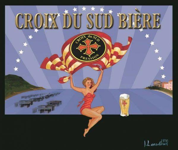 Brasserie la Croix du Sud à Bessan, dans l'Hérault, brasseur et distributeur de bière artisanale blonde et ambrée en bouteille et en fût. Location et installation de pompe à bière /tireuse à bière pour particuliers, associations et professionnels. Visite guidée de la fabrique - brasserie.