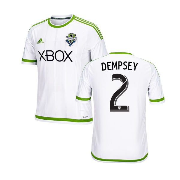 Clint Dempsey Seattle Sounders FC adidas Youth 2015 Secondary Replica Jersey - Olympic White - $94.99