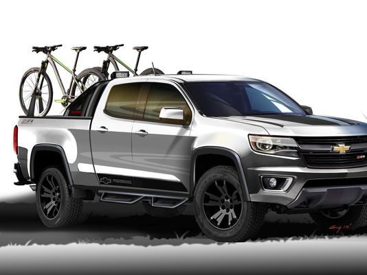 Pretty cool bike-rack concept on the new Colorado and Canyon.