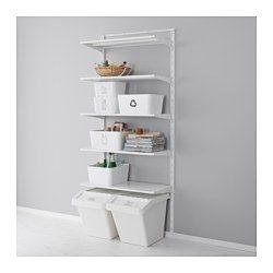 IKEA - ALGOT, Wandschiene/Böden, Die Teile der ALGOT Serie lassen sich…