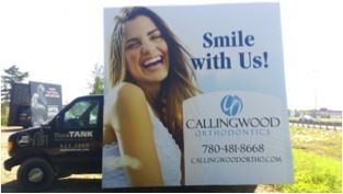 The Callingwood Orthodontics Mobile Advan leaves a lasting emotional impression #alternativeadvertising #outofhomemarketing #outdooradvertising