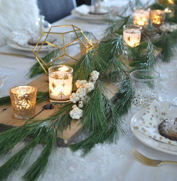 51 Charming Winter Wedding Decorations Winter Table Decorations Christmas Table Decorations Homemade Christmas Table Decorations
