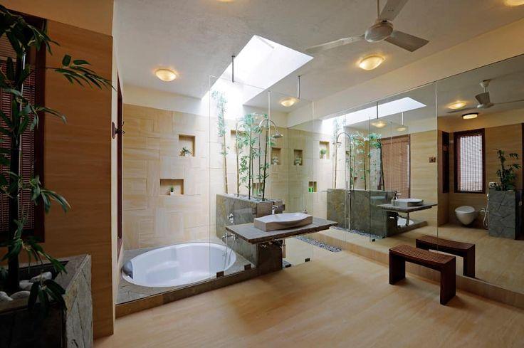 Baños de estilo asiático por JAYESH SHAH ARCHITECTS