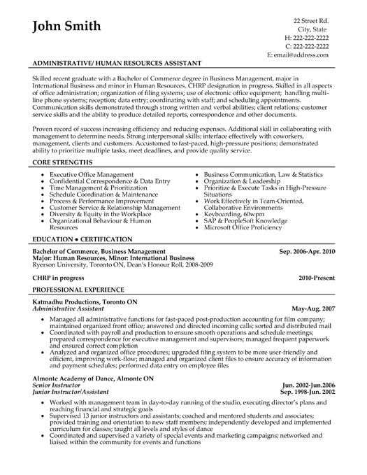 click here to download this administrative assistant resume template httpwww - Sample Administrative Resumes