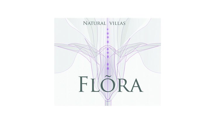 Branding for Flora Natural Vilas. Boutique vacational homes in Bali