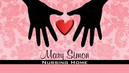 Feminine Pink Damask Heart and Hands Silhouette Nursing Home Business Cards http://www.zazzle.com/nursing_home_business_cards-240434826025025250?rf=238835258815790439&tc=GBCNursing1Pin