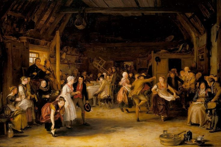 The Penny Wedding, 1818 by David Wilkie (Scottish,... -       Old Paintings