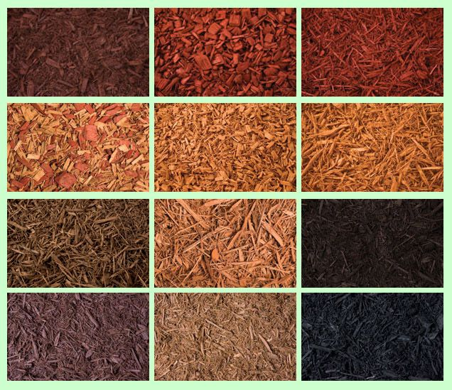 21 best images about colored mulch on pinterest pathways for Different color rocks for landscaping