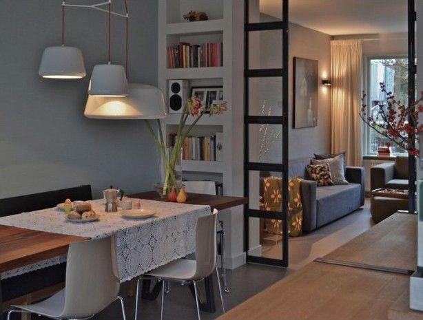 Ook leuk, een moderne variant van de en suite tussendeuren.