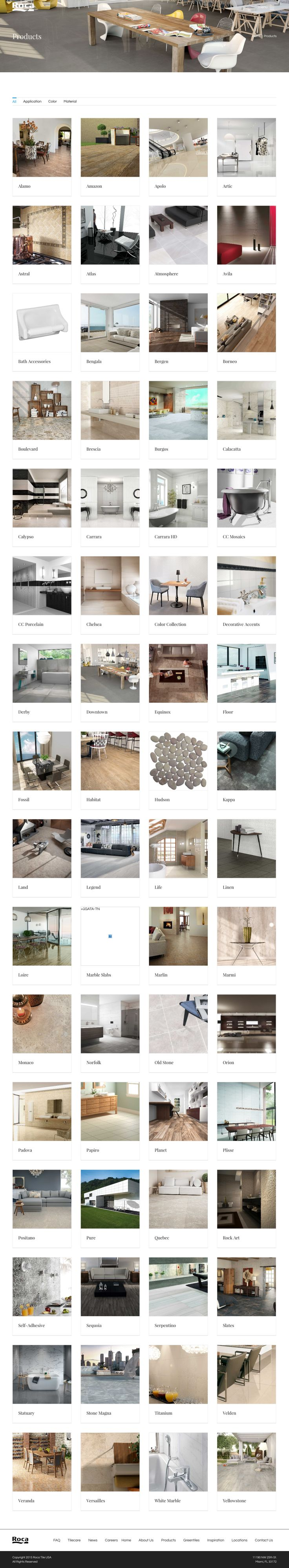 Website redesign and makeover for ROCA Tiles USA by The Line Between: http://rocatilegroup.com/