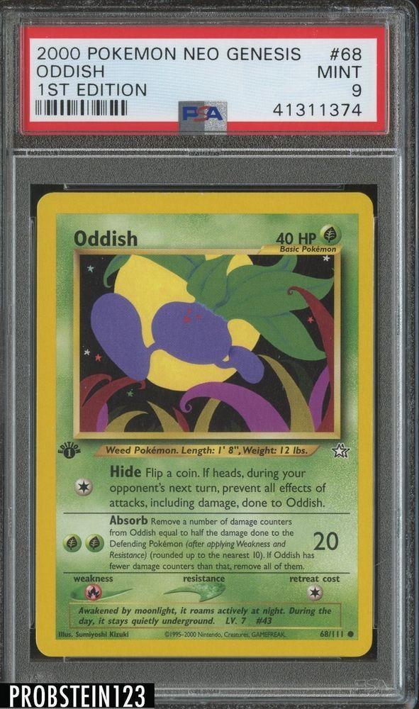 2000 Pokemon Neo Genesis 1st Edition 68 Oddish PSA 9 MINT