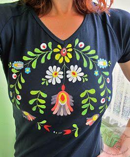 Monikin svet: Maľované tričko s motívom Matyó