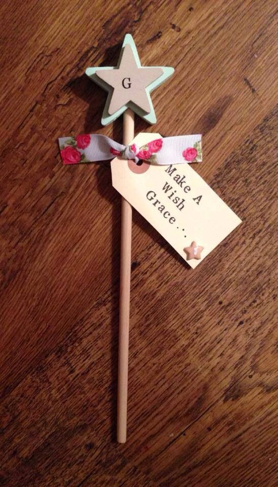 Little girls gifts. Pretty personalised wooden wand
