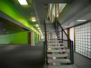 trap: mooie groene muur