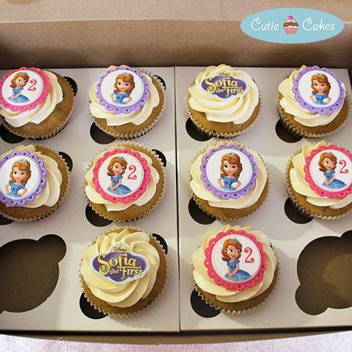 Princess Sofia cupcakes by Cutie Cakes