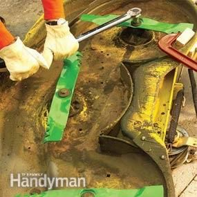 Lawn Tractor Maintenance Tips: Professional tips that prevent expensive repairs http://www.familyhandyman.com/automotive/lawn-mower-repair/lawn-tractor-maintenance-tips/view-all