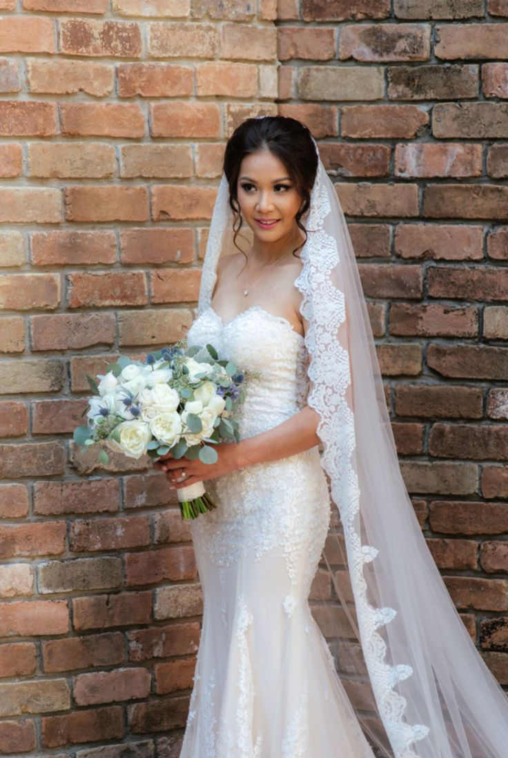 Cathedral Bridal Veil With Lace Trim Edge (#Helaine) | Cathedral Wedding Veil | Super Long Wedding Veil | Scalloped lace trim Cathedral Veil | Wedding Veil