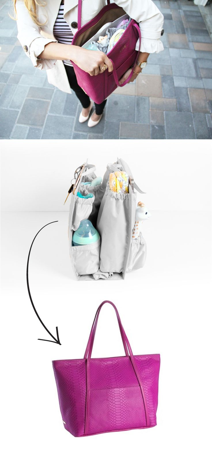 Turn your handbag into the best diaper bag ever      diaper bag insert