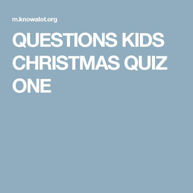 The 25+ best Christmas quiz for kids ideas on Pinterest | Fun ...