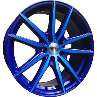17x7.5 Blue Neoz 5018 Wheels 5x100 35 Fits Chrysler PT Cruiser Cirru